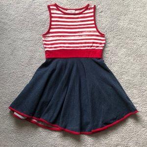 Coccoli girls dress size 8 red white stripes